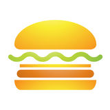Fast Food Burger Icon Royalty Free Stock Images