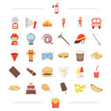 , fast food, cafe, business and other web icon Royalty Free Stock Photography