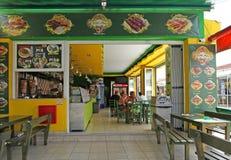 Fast food cafe in Faliraki. Rhodes island, Greece Stock Image