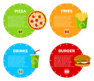 Fast Food Cafe Menu Stock Photo