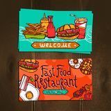 Fast Food Cards Royalty Free Stock Photos