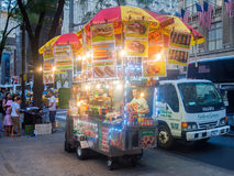 Fast food cart at 5th Avenue in New York City Royalty Free Stock Photography