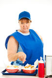 Fast Food Cashier - No Nonsense Stock Images