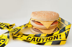 Fast food caution Royalty Free Stock Photo
