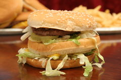 Fast food Cheeseburger Stock Images