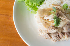 Fast Food Chicken rice steam of Thailand. Royalty Free Stock Photos