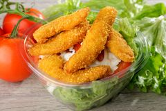 fast food  chicken salad Royalty Free Stock Images
