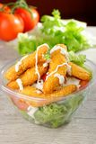 Fast food  chicken salad Royalty Free Stock Photography