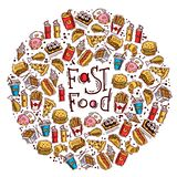 Fast Food Circle Royalty Free Stock Photo