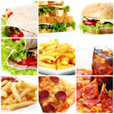 Fast Food Collage stock images