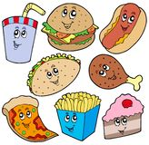 Fast food collection Royalty Free Stock Photos