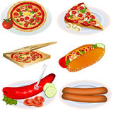 Fast food collection 2 Royalty Free Stock Image