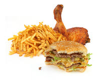 Fast food collection Royalty Free Stock Image