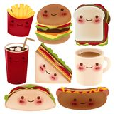 Fast Food Collection. Vector File Royalty Free Stock Images