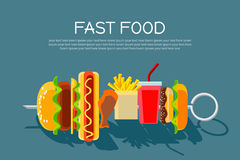 Fast food concept banner Royalty Free Stock Photography