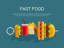 Fast food concept banner Stock Photography