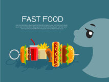 Fast food concept banner Royalty Free Stock Photo