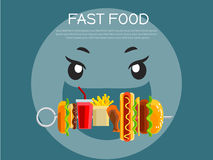 Fast food concept banner Royalty Free Stock Image