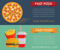 Fast food concept banners set Stock Image