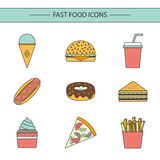 Fast food concept Royalty Free Stock Photo