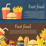 Fast food concept Royalty Free Stock Images