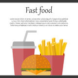Fast food concept Royalty Free Stock Photos
