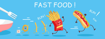 Fast Food Conceptual Banner. Happy Meal for Child Stock Photography