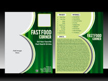 Fast food corner Flyer Template Royalty Free Stock Images