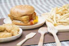 Fast Food Crispy Fish Burger Royalty Free Stock Photography