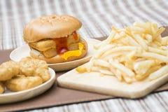 Fast Food Crispy Fish Burger Royalty Free Stock Photos