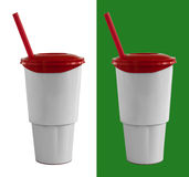 Fast food cup with red tube Stock Photography