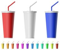 Fast food cup with straw royalty free stock images