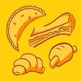 Fast food da padaria ilustração do vetor
