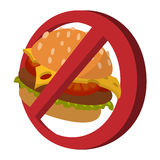 Fast food danger cartoon icon Stock Photo
