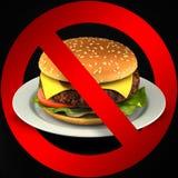 Fast food danger label. 3D illustration stock image