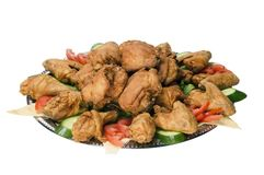 Fast food de Chiken isolado Imagens de Stock Royalty Free