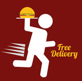 Fast Food design Royalty Free Stock Photography