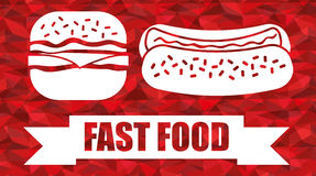 Fast Food design Royalty Free Stock Photos