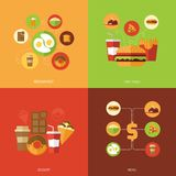 Fast Food Design Concept Stock Image