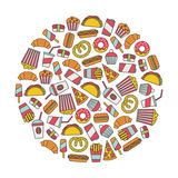 Fast food design element Royalty Free Stock Image