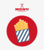 Fast food design Royalty Free Stock Image