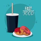 Fast Food design. Menu icon. Colorfull illustration , vector graphic Royalty Free Stock Photography
