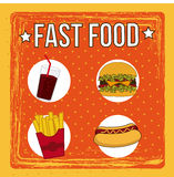 Fast food design Stock Images
