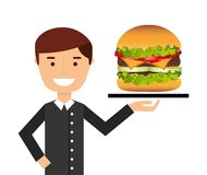 Fast food design. Vector illustration eps10 graphic Royalty Free Stock Image