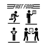 Fast food design Stock Photos