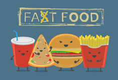 Fast food devil group Royalty Free Stock Images