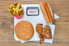 Fast food diet Royalty Free Stock Image