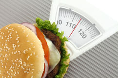 Fast food and diet Stock Image