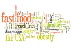 Fast Food dieta Obraz Royalty Free