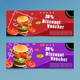 Fast food discount voucher templates-vector royalty free illustration
